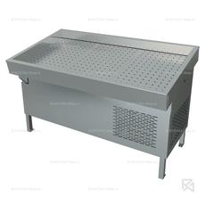Прилавок холодильный МХМ «Рыба на льду» ПХС-1,55/0,85