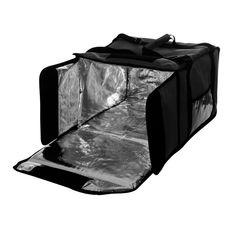 Термосумка Luxstahl на 9-10 пицц 420х420х500 мм черная