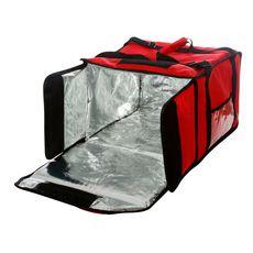Термосумка Luxstahl на 9-10 пицц 420х420х500 мм красная