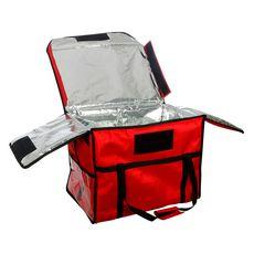Термосумка для обедов Luxstahl 600х400х450 мм красная