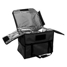 Термосумка для обедов Luxstahl 600х400х450 мм черная