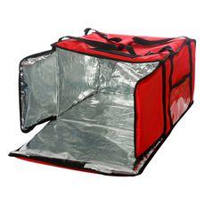 Термосумка Luxstahl на 9-10 пицц 450х450х500 мм красная
