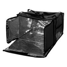 Термосумка Luxstahl на 5-6 пицц 450х450х300 мм черная