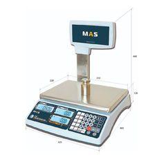 Весы торговые электронные со стойкой Mas MR1-15P
