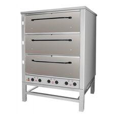 Подовая хлебопекарная печь ВОСХОД ХПЭ-500 (нерж)  в обрешетке