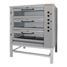 Подовая хлебопекарная печь ВОСХОД ХПЭ-750/3 С в обрешетке
