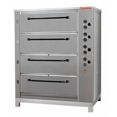 Подовая хлебопекарная печь ВОСХОД ХПЭ-750/4 (нерж) в обрешетке