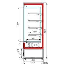 Горка холодильная POLUS FC 20-07 VM 0,7-2 (Carboma Cube 1930/710 ВХСп-0,7)